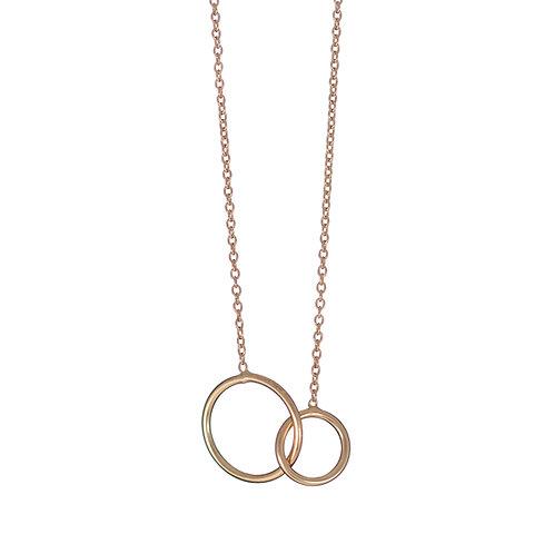 Gold Interlocking Circles Pendant