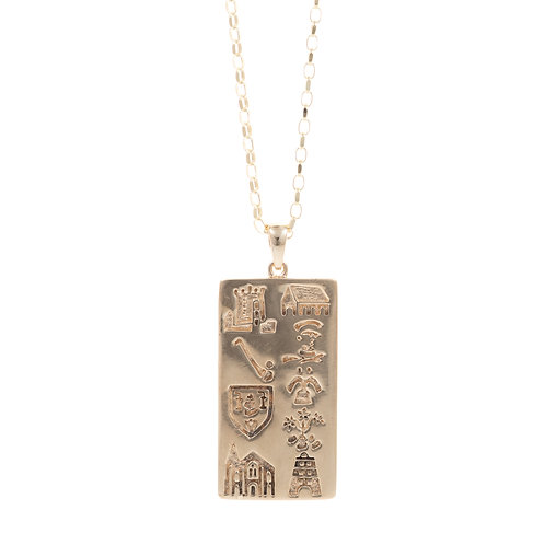 History of Cork - Gold Wide Pendant