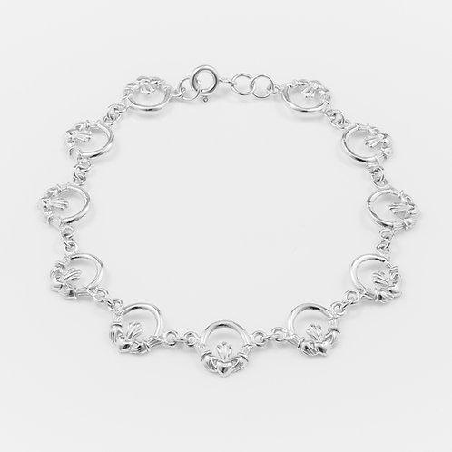 Silver Claddagh Bracelet - 9mm