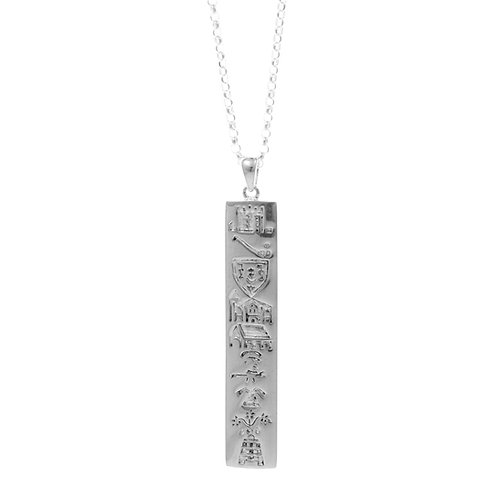 History of Cork - Silver Slim Pendant