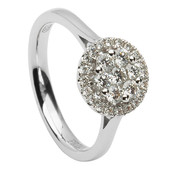 HER23 Halo Engagement Ring
