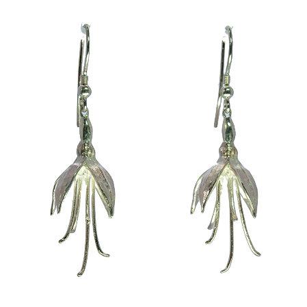 Silver Fuschia Earrings