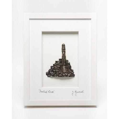 Fastnet Rock - Framed Bronze (White)