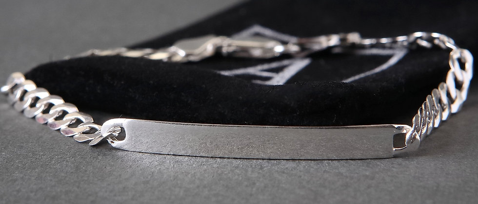 Ladies Silver ID Bracelet