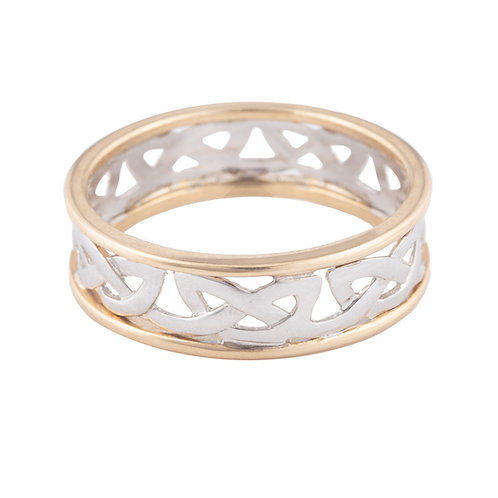 Yellow & White Gold Celtic Ring