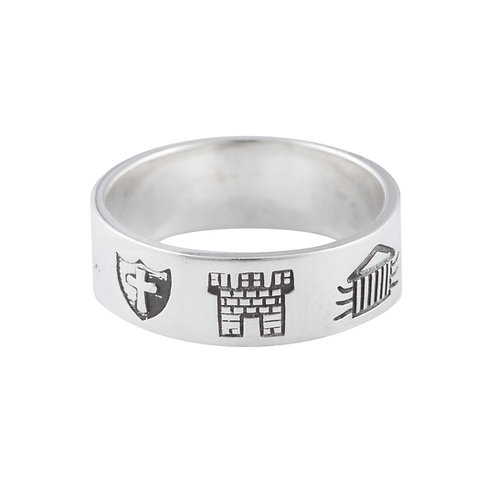 History of Ireland - Silver Ring - T