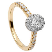 HER15 Halo Engagement Ring
