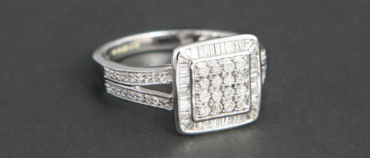 Diamond Encrusted White Gold Cocktail Ring