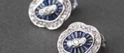 Stunning Sapphire & DIamond Earrings