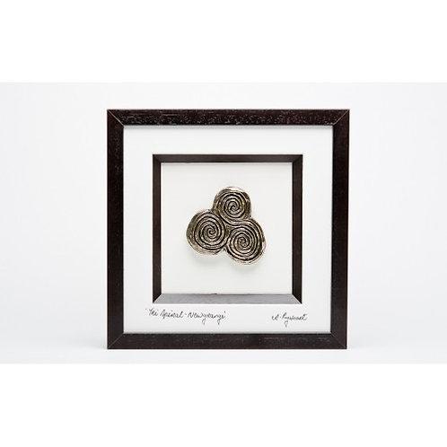 Newgrange Tri Spiral - Framed Bronze