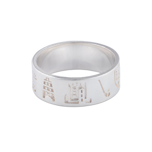 History of Cork - Silver Ring - H (Wide)