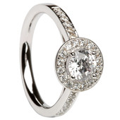 HER11 Halo Engagement Ring