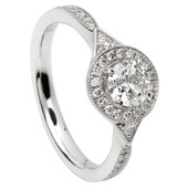 HER25 Halo Engagement Ring