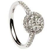 HER24 Halo Engagement Ring