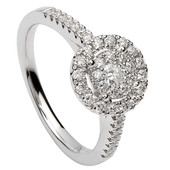HER16 Halo Engagement Ring