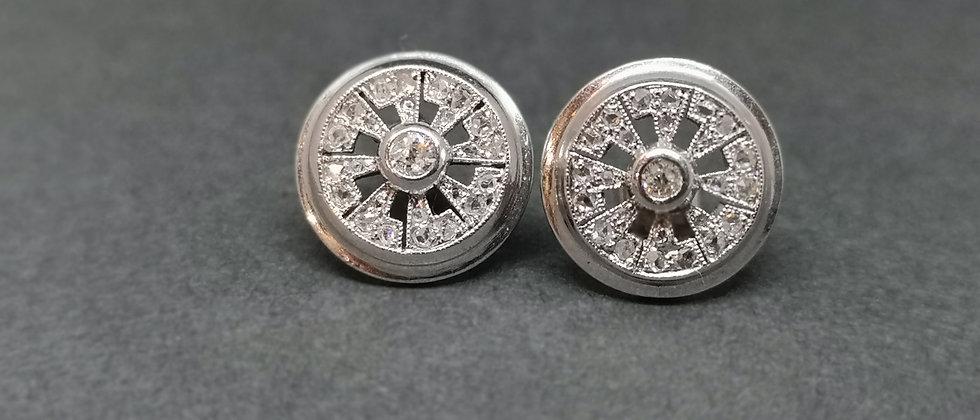 Hand made diamond earrings