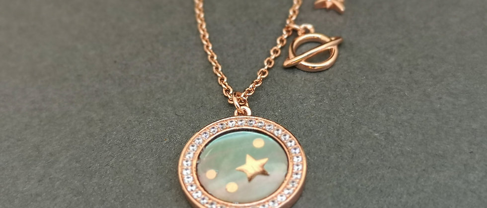 Celestial rose planet in mother of pearl