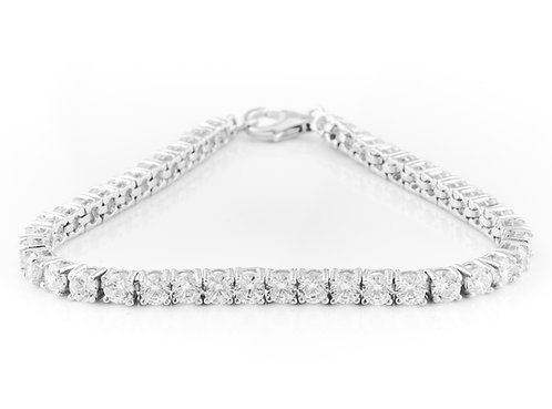 Silver Tennis Bracelet - Cubic Zirconia