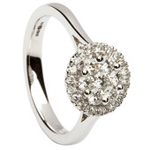 HER22 Halo Engagement Ring