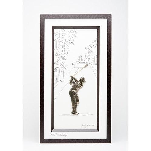 Bronze Golfer - 'Down the Fairway'