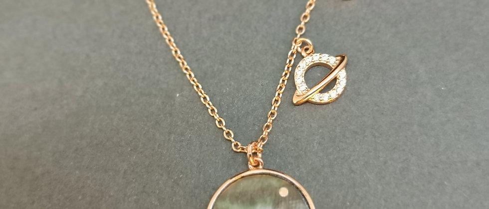 Celestial rose pendant