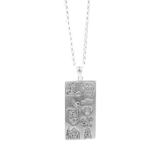 History of Cork - Silver Wide Pendant