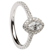 HER10 Halo Engagement Ring