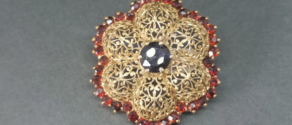Garnet brooch