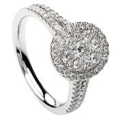 HER18 Halo Engagement Ring