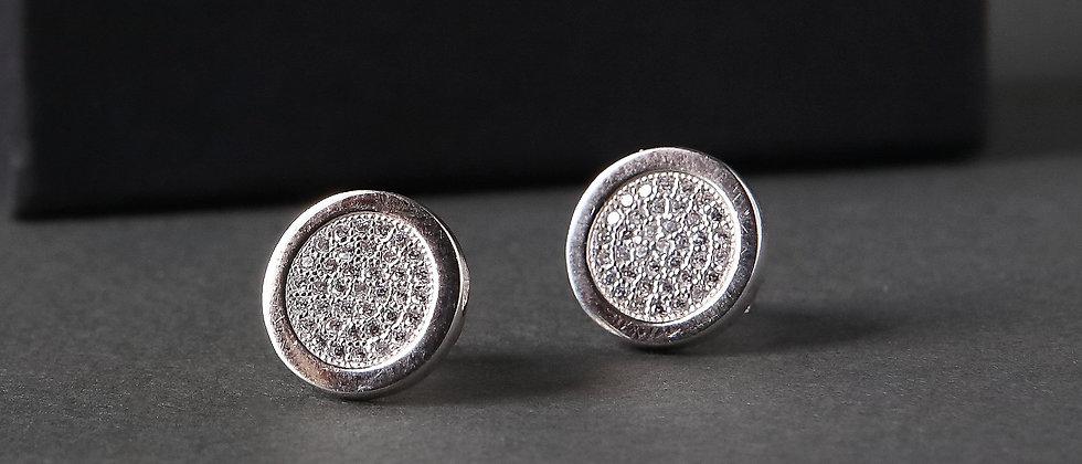 Round Stoneset Stud Earrings