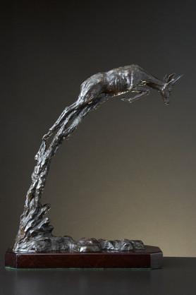 Springbok Pronking. Height 42 cm