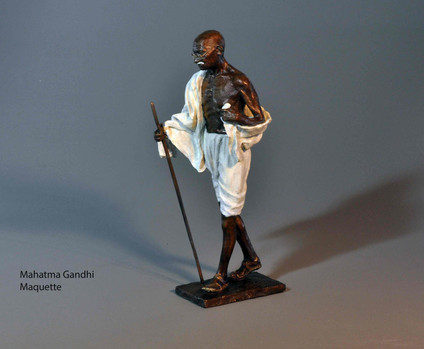 Mahatma Gandhi. Height 45cm