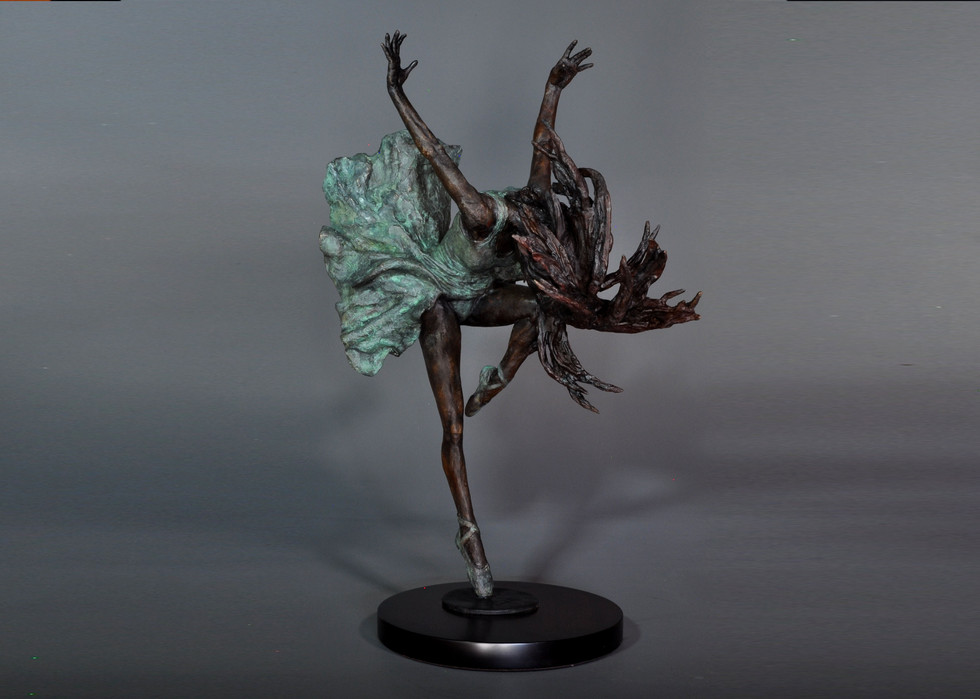 Prima Ballerina. Height  70cm x  60 cm wide