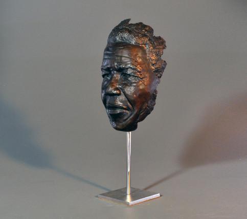 Mandela Face Fragment. Height 47cm. Face life-size