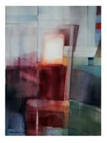 DIVERGENCES 2020  Aquarelle abstraite contemporaine Eliane Pouhaer