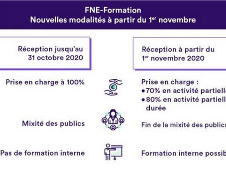 Formations Financées par l'Etat « FNE » : Evolutions des règles au 01/11/2020