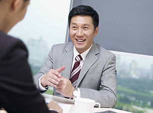 A man receiving business insurance services in Broomfield, CO