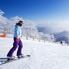 تجربة التزلج - الشتاء