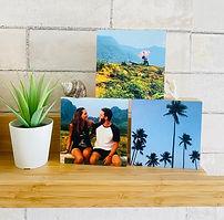 3 בלוקים מעץ עם תמונה