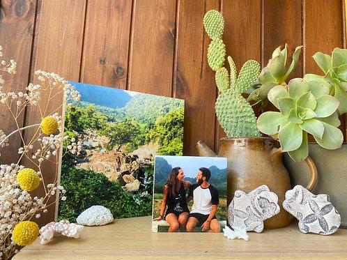 זוג בלוקים מעץ עם תמונה
