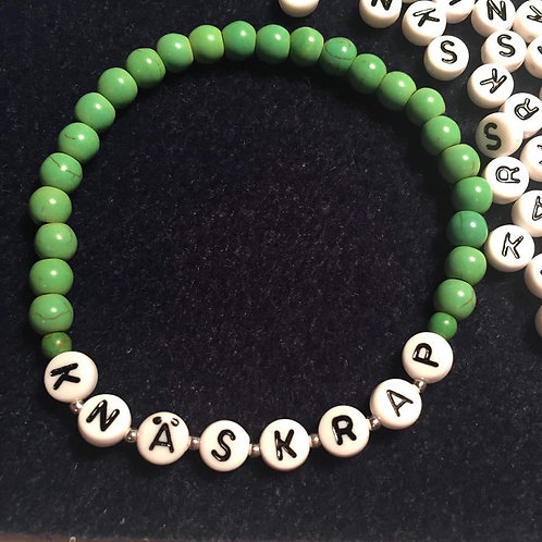 "Armband ""knäskrap"" grön"