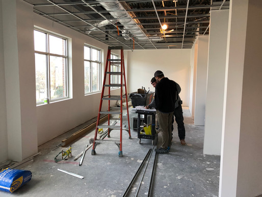 We are hard at work completing the new office