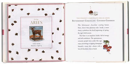 chocolate astrology aries spread