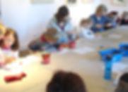 children building letters of the alphabet