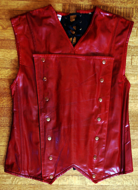 One of a Kind Oxblood Men's Corset 2XL