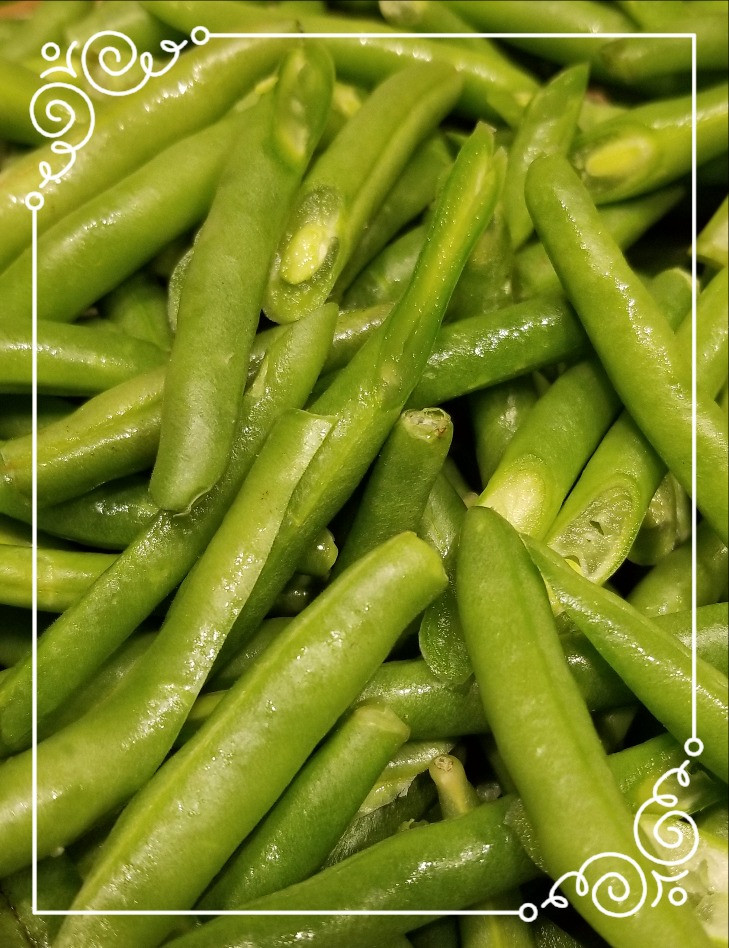 green beans, frenched