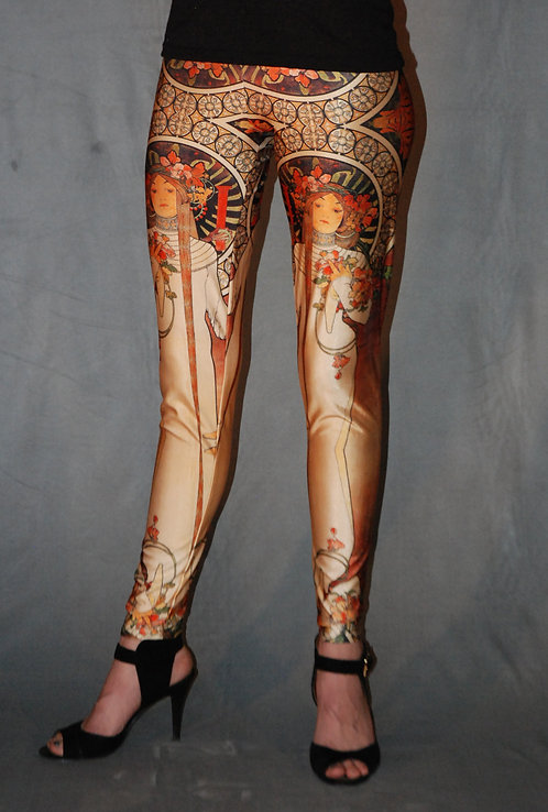 Mucha-inspired Legging