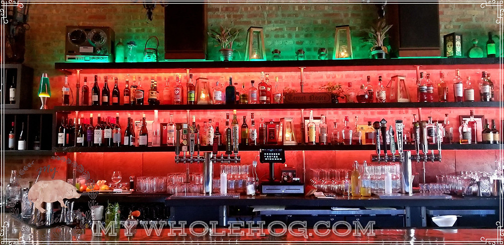 The bar at Allegory