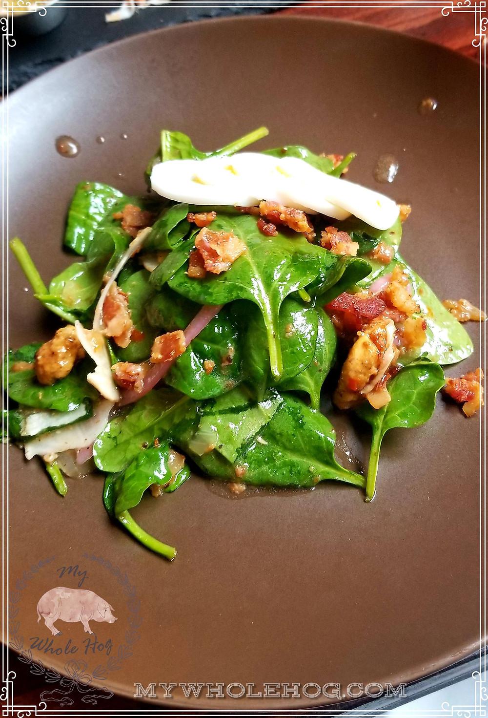 Spinach and Bacon, Bacon, Bacon