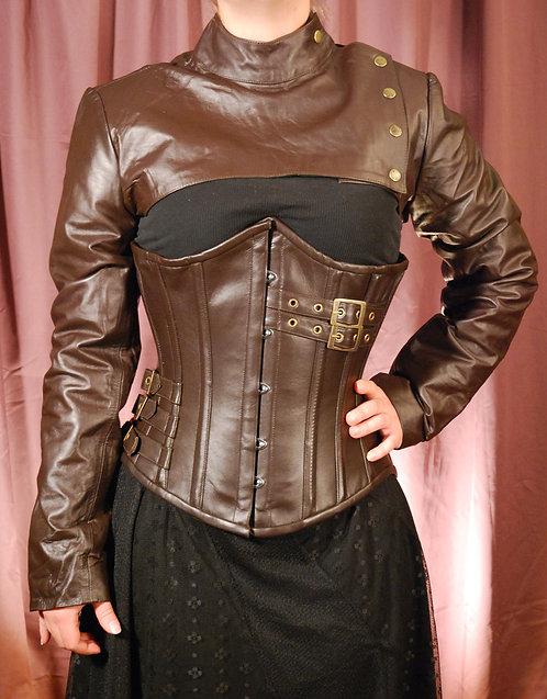 Leather Cropped Bolero Jacket